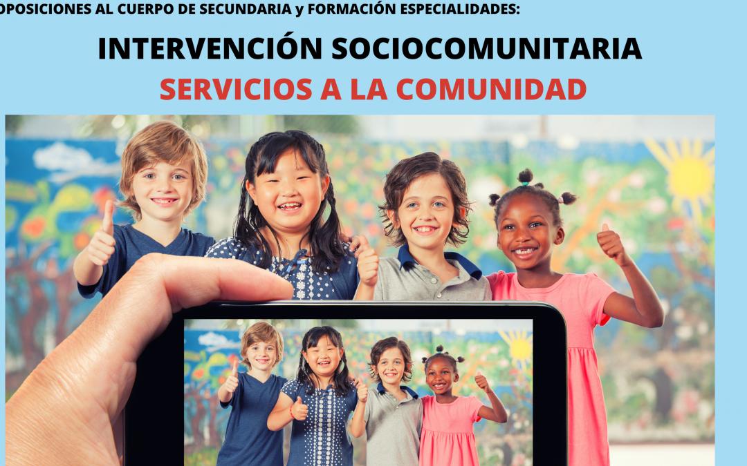 INTERVENCIÓN SOCIOCOMUNITARIA Y SERVICIOS A LA COMUNIDAD. ¡MATRÍCULA ABIERTA!